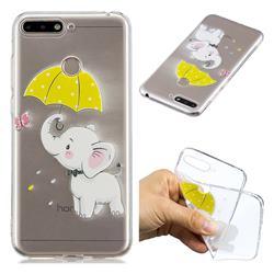 Umbrella Elephant Super Clear Soft TPU Back Cover for Huawei Y6 (2018)