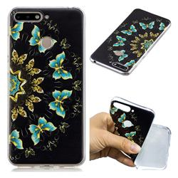 Circle Butterflies Super Clear Soft TPU Back Cover for Huawei Y6 (2018)