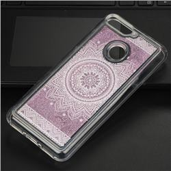 Mandala Glassy Glitter Quicksand Dynamic Liquid Soft Phone Case for Huawei Y6 (2018)