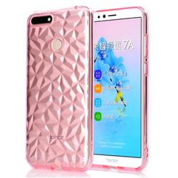 Diamond Pattern Shining Soft TPU Phone Back Cover for Huawei Y6 (2018) - Pink