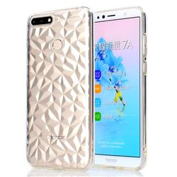 Diamond Pattern Shining Soft TPU Phone Back Cover for Huawei Y6 (2018) - Transparent