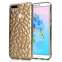 Diamond Pattern Shining Soft TPU Phone Back Cover for Huawei Y6 (2018) - Gray