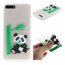 Panda Eating Bamboo Soft 3D Silicone Case for Huawei Y6 (2018) - Translucent