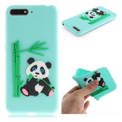 Panda Eating Bamboo Soft 3D Silicone Case for Huawei Y6 (2018) - Green