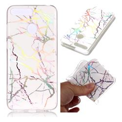 Color White Marble Pattern Bright Color Laser Soft TPU Case for Huawei Y6 (2018)