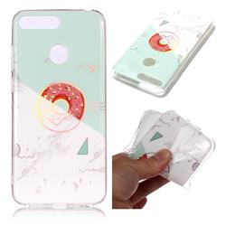 Donuts Marble Pattern Bright Color Laser Soft TPU Case for Huawei Y6 (2018)