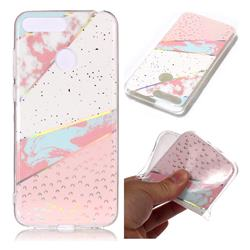 Matching Color Marble Pattern Bright Color Laser Soft TPU Case for Huawei Y6 (2018)