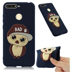 Bad Boy Owl Soft 3D Silicone Case for Huawei Y6 (2018) - Navy