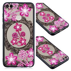 Daffodil Lace Diamond Flower Soft TPU Back Cover for Huawei Y6 (2018)