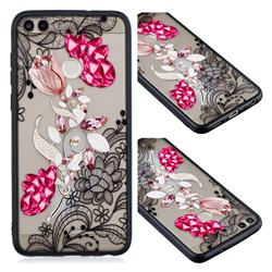 Tulip Lace Diamond Flower Soft TPU Back Cover for Huawei Y6 (2018)