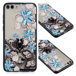 Lilac Lace Diamond Flower Soft TPU Back Cover for Huawei Y6 (2018)