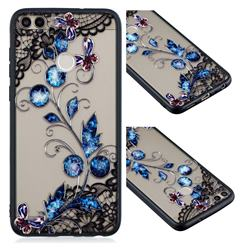 Butterfly Lace Diamond Flower Soft TPU Back Cover for Huawei Y6 (2018)