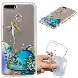 Mermaid Clear Varnish Soft Phone Back Cover for Huawei Y6 (2018)