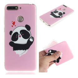 Heart Cat IMD Soft TPU Cell Phone Back Cover for Huawei Y6 (2018)