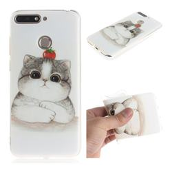 Cute Tomato Cat IMD Soft TPU Cell Phone Back Cover for Huawei Y6 (2018)