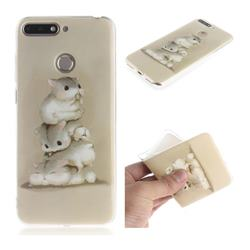 Three Squirrels IMD Soft TPU Cell Phone Back Cover for Huawei Y6 (2018)