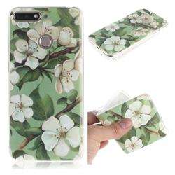 Watercolor Flower IMD Soft TPU Cell Phone Back Cover for Huawei Y6 (2018)