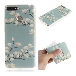 Magnolia Flower IMD Soft TPU Cell Phone Back Cover for Huawei Y6 (2018)