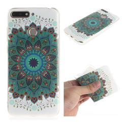 Peacock Mandala IMD Soft TPU Cell Phone Back Cover for Huawei Y6 (2018)