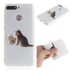 Cat and Tiger IMD Soft TPU Cell Phone Back Cover for Huawei Y6 (2018)