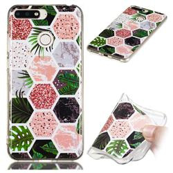 Rainforest Soft TPU Marble Pattern Phone Case for Huawei Y6 (2018)