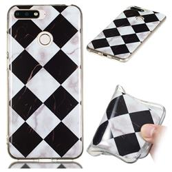Black and White Matching Soft TPU Marble Pattern Phone Case for Huawei Y6 (2018)