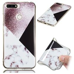 Black white Grey Soft TPU Marble Pattern Phone Case for Huawei Y6 (2018)