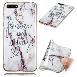 Forever Soft TPU Marble Pattern Phone Case for Huawei Y6 (2018)