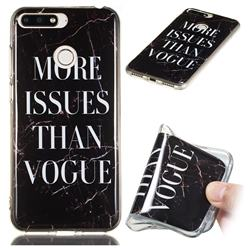 Stylish Black Soft TPU Marble Pattern Phone Case for Huawei Y6 (2018)