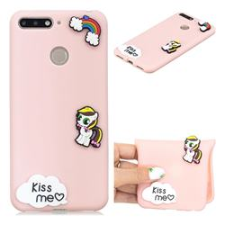 Kiss me Pony Soft 3D Silicone Case for Huawei Y6 (2018)