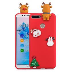 Red Elk Christmas Xmax Soft 3D Silicone Case for Huawei Y6 (2018)