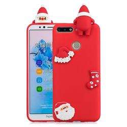 Red Santa Claus Christmas Xmax Soft 3D Silicone Case for Huawei Y6 (2018)