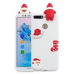 White Santa Claus Christmas Xmax Soft 3D Silicone Case for Huawei Y6 (2018)