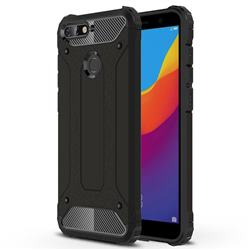 King Kong Armor Premium Shockproof Dual Layer Rugged Hard Cover for Huawei Y6 (2018) - Black Gold