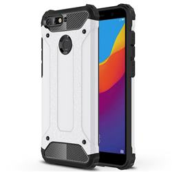 King Kong Armor Premium Shockproof Dual Layer Rugged Hard Cover for Huawei Y6 (2018) - White