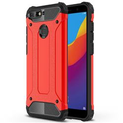 King Kong Armor Premium Shockproof Dual Layer Rugged Hard Cover for Huawei Y6 (2018) - Big Red
