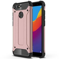 King Kong Armor Premium Shockproof Dual Layer Rugged Hard Cover for Huawei Y6 (2018) - Rose Gold