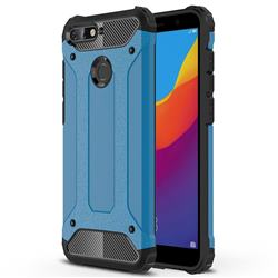 King Kong Armor Premium Shockproof Dual Layer Rugged Hard Cover for Huawei Y6 (2018) - Sky Blue
