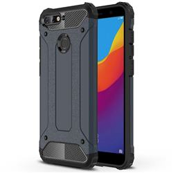 King Kong Armor Premium Shockproof Dual Layer Rugged Hard Cover for Huawei Y6 (2018) - Navy