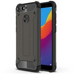 King Kong Armor Premium Shockproof Dual Layer Rugged Hard Cover for Huawei Y6 (2018) - Bronze