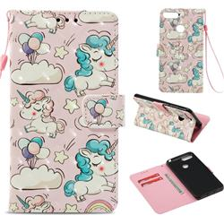 Angel Pony 3D Painted Leather Wallet Case for Huawei Y6 (2018)