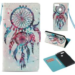ColorDrops Wind Chimes 3D Painted Leather Wallet Case for Huawei Y6 (2018)