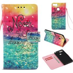 Colorful Dream Catcher 3D Painted Leather Wallet Case for Huawei Y6 (2018)