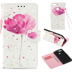 Watercolor 3D Painted Leather Wallet Case for Huawei Y6 (2018)