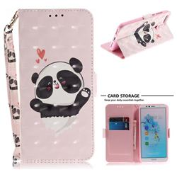 Heart Cat 3D Painted Leather Wallet Phone Case for Huawei Y6 (2018)
