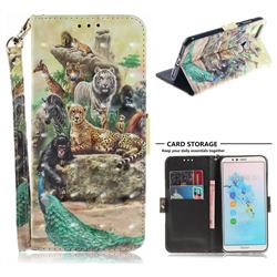 Beast Zoo 3D Painted Leather Wallet Phone Case for Huawei Y6 (2018)