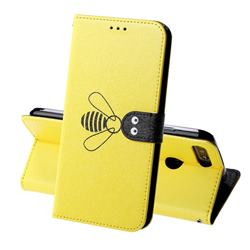 Search Silk Texture Bee Pattern Leather Phone Case - Guuds
