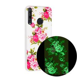 Peony Noctilucent Soft TPU Back Cover for Huawei Y6p