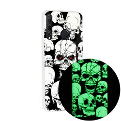Red-eye Ghost Skull Noctilucent Soft TPU Back Cover for Huawei Y6p