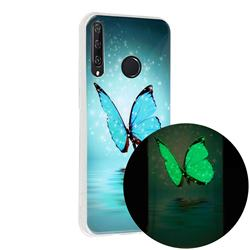 Butterfly Noctilucent Soft TPU Back Cover for Huawei Y6p
